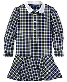 Polo Ralph Lauren Little Girls Plaid Cotton Poplin Shirtdress