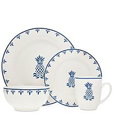 Pineapple 16-Pc. Dinnerware Set, Service for 4