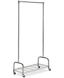 Christian Chrome Wire Single Rod Clothes Rack, Quick Ship