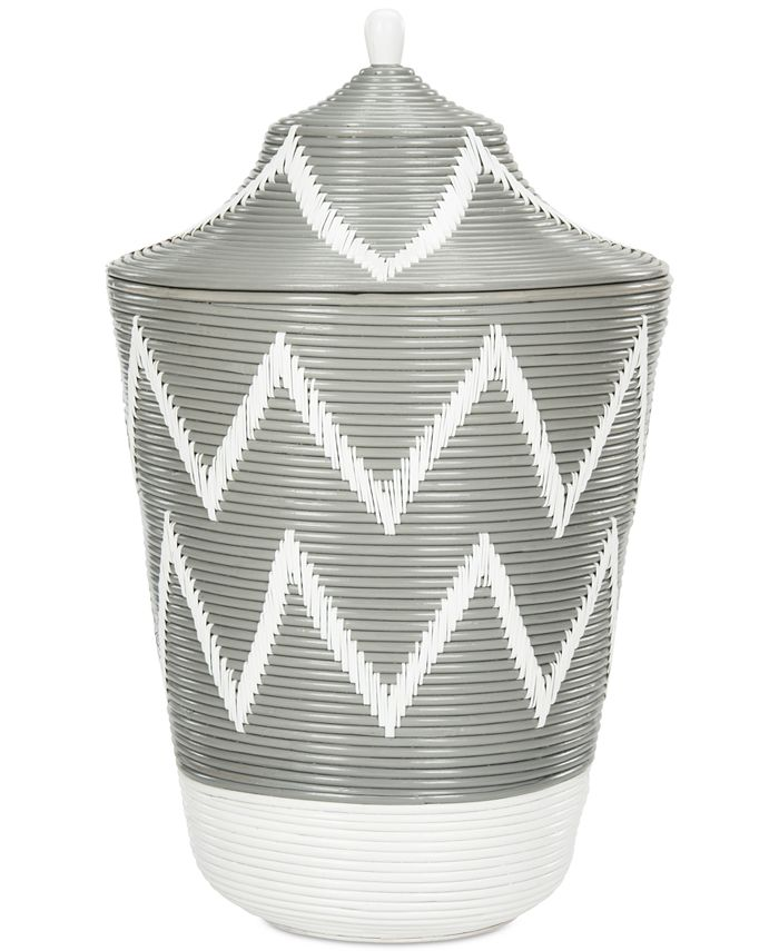 Safavieh - Reina Rattan Jar Basket, Quick Ship
