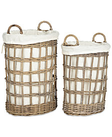 Adisa Wicker Hamper - Two-in-One, Quick Ship