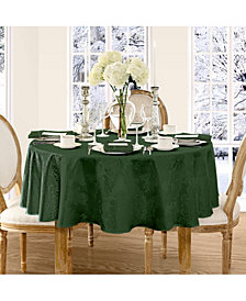 "Elrene Barcelona Damask Hunter 90"" round Tablecloth"