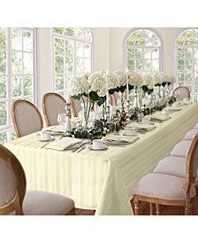 "Elrene Denley Stripe Ivory 52"" x 70"" Tablecloth"