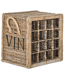 Aziza 16-Bottle Wicker Wine Rack, Quick Ship