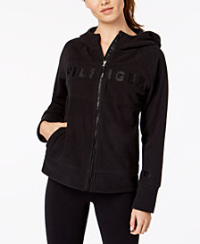 Tommy Hilfiger Sport Embroidered Logo Zip-Front Hoodie, Created for Macy's
