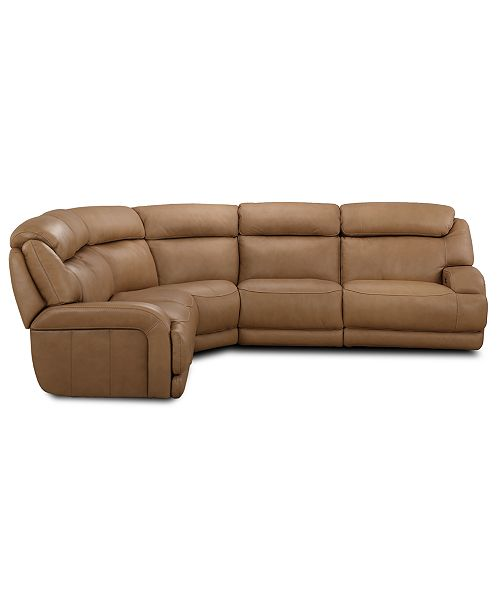 Furniture Daventry 5 Pc Leather Sectional Sofa With 2