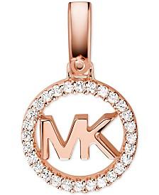 Michael Kors Women's Custom Kors Sterling Silver Logo Charm