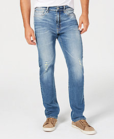 Calvin Klein Jeans Men's Straight-Fit Ripped Jeans, CKJ 035