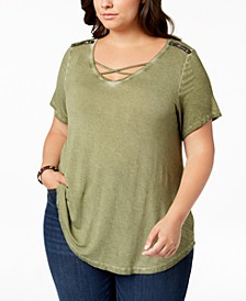 Trendy Plus Size Embellished Top