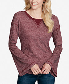 Jessica Simpson Ionna Bell-Sleeve Thermal Top