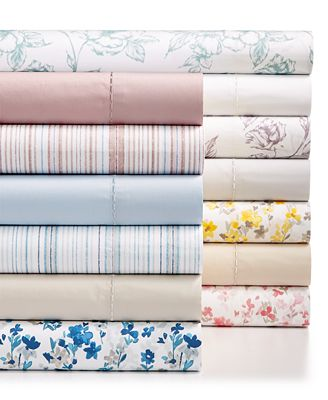 Martha Stewart Collection Cotton Percale 400 Thread Count Solid And