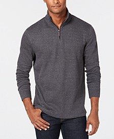 Men's Quarter-Zip French Rib Pullover Sweater, Created for Macy's
