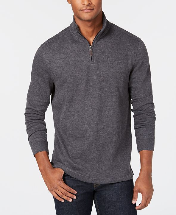 Club Room Men's Quarter-Zip French Rib Pullover Sweater, Created for Macy's