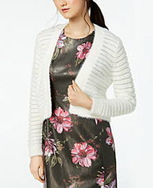 Calvin Klein Shadow-Stripe Cropped Cardigan