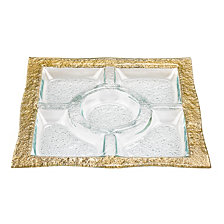 Novarra Gold 5-Section Serving Tray