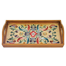 Gemstone Floral 12.5 Inch Rectangle Tray
