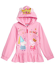 Peppa Pig Little Girls Graphic-Print Peplum Hoodie