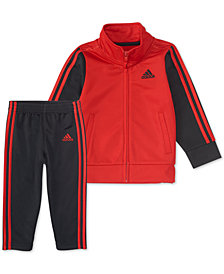 adidas Little Boys 2-Pc. Red Tricot Track Suit