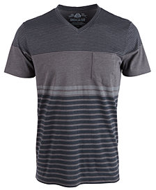 American Rag Men's Striped V-Neck T-Shirt, Created for Macy's