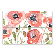 Red Poppies Wood Pallet