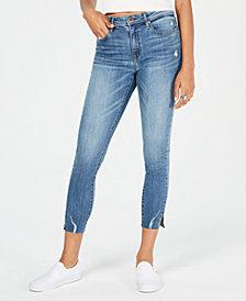 American Rag Juniors' Mid-Rise Razor Raw-Hem Skinny Jeans, Created for Macy's