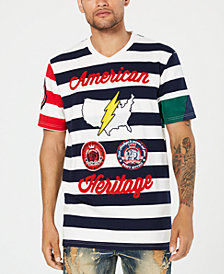 Heritage America Men's Striped Graphic T-Shirt