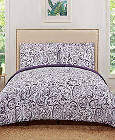 Truly Soft Watercolor Paisley King Quilt Set