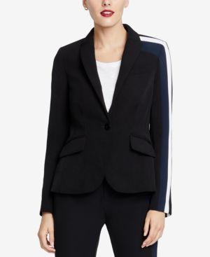 RACHEL RACHEL ROY Darby Striped Blazer, Created For Macy'S in Black