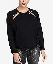 RACHEL Rachel Roy Henry Hardware-Embellished Cutout Sweatshirt, Created for Macy's