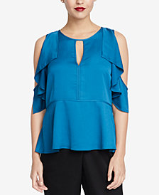 RACHEL Rachel Roy Ruffled Cold-Shoulder Top, Created for Macy's