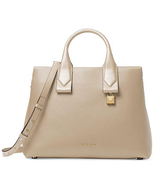 Michael Kors Rollins Pebble Leather Satchel - Handbags   Accessories ... 1cc2f76904915