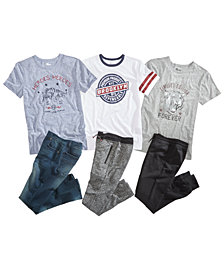 Epic Threads Big Boys Graphic-Print T-Shirts & Denim Jeans Separates, Created for Macy's