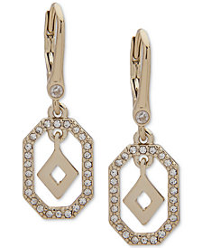 Ivanka Trump Gold-Tone Crystal Drop Earrings