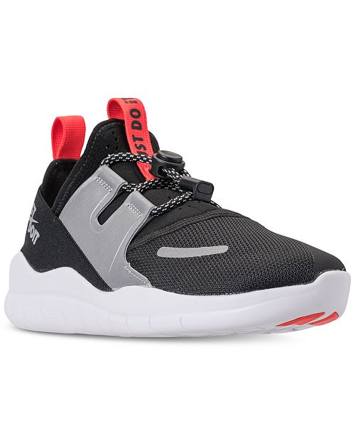 ee5243bce3e89 ... Nike Boys  Free RN Commuter 2018 Just Do It Running Sneakers from  Finish ...