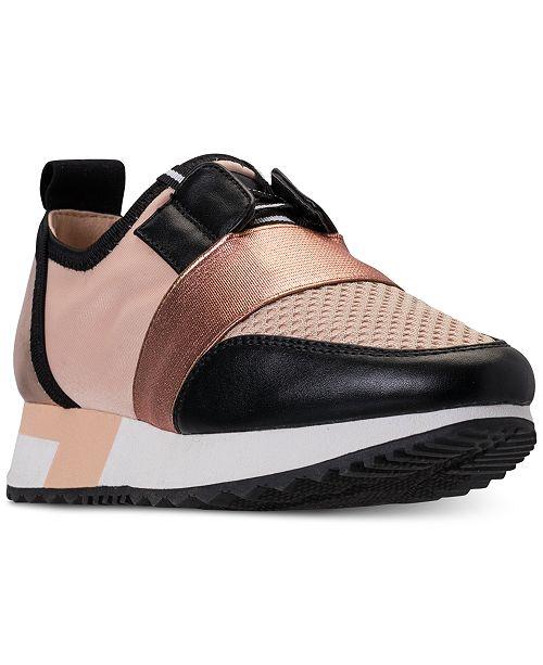 b5f33f2675c Steve Madden Little Girls  J-Antics Metallic Casual Sneakers from Finish ...