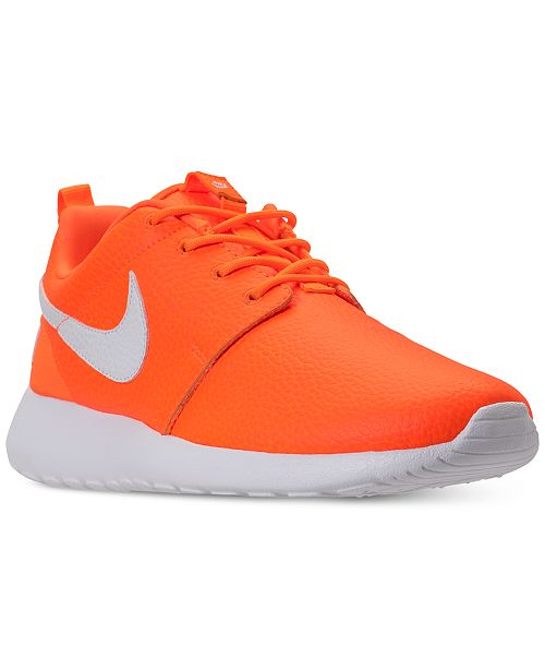fd5add566abd ... Nike Women s Roshe One Premium Just Do It Casual Sneakers from Finish  ...