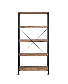 Wadsworth Industrial Four-shelf Bookcase
