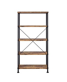 Wadsworth Industrial Four-shelf Bookcase