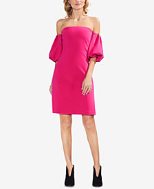 Vince Camuto Bubble-Sleeve Off-The-Shoulder Dress
