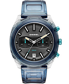 Diesel Men's Chronograph Tumbler Blue Polyurethane Strap Watch 48mm