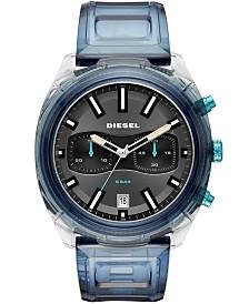 Diesel Men's Chronograph Tumbler Blue Polyurethane Strap Watch 48mm