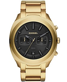 Men's Chronograph Tumbler Gold-Tone Stainless Steel Bracelet Watch 48mm