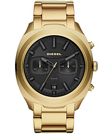 Diesel Men's Chronograph Tumbler Gold-Tone Stainless Steel Bracelet Watch 48mm