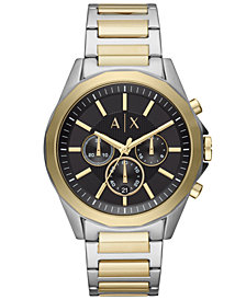 A|X Armani Exchange Men's Chronograph Drexler Two-Tone Stainless Steel Bracelet Watch 44mm