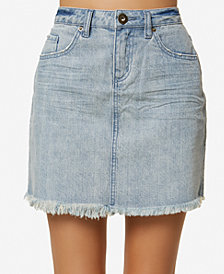 O'Neill Juniors' Jasmine Cotton Denim Mini Skirt