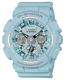 G-Shock Women's Analog-Digital Light Blue Resin Strap Watch 45.9mm