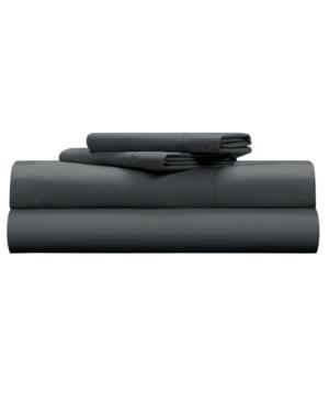 Pillow Guy Classic Cool & Crisp 100% Cotton Percale 4-Piece Sheet Set-Full Bedding