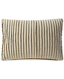 "VCNY Home Velvet Pintuck 14"" x 20"" Decorative Pillow"