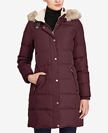 Lauren Ralph Lauren Faux Fur Down Coat