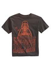 c0a621ca22fd3 Star Wars Little Boys Welcome to the Dark Side Graphic Cotton T-Shirt